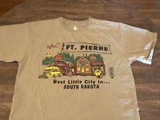 Ft Pierre Best Little City In South Dakota Large Brown T Shirt