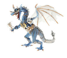 Dragons - Blue Dragon In Armor (Translucent) PVC Figure PLASTOY