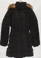 Jones New York Ladies Down Mix Detachable Fur Trim Hood Puffer Coat Black XL NWT