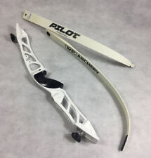 Archery Youth Metal Recurve Bow Set Complete With String & Arrow Rest **White**