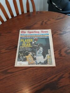 MARCH 26,1984-THE SPORTING NEWS-MICHAEL JORDAN OF THE NORTH CAROLINA TAR HEELS