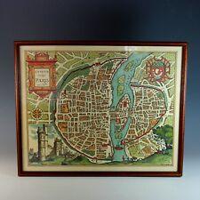 Antique Map of Paris Lutetia Vulgo Paris Anno 1575 Late 1800s Reproduction