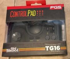 TurboGrafx 16 PC Engine Video Game System Controller NEW in box w/ adapter TG16