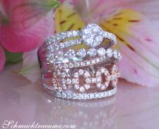 Raffiniert: Mehrreihiger Brillant Ring, Weiß- & Roségold 750 1.66 ct TW VS 6800€