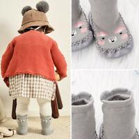 Chaud épais Coton Bas pour bébé Chaussures pour enfants Animal Dessin animé