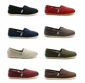 TOMS Women's CLASSIC Solid Canvas Slip on flats shoe's US Sizes