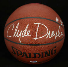 Clyde Drexler SIGNED I/O Basketball Houston Rockets PSA/DNA AUTOGRAPHED HOF
