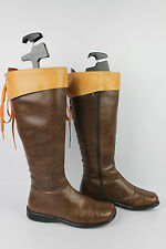 Boots Lace JOSE SAENZ Brown Leather and Camel T 36 BE