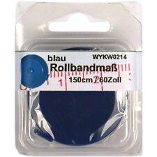 1 Rollbandmaß Schneidermaßband Schneider-Maß, Maßband blau 150 cm /60 Zoll, 0214