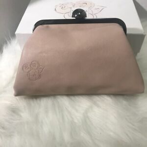 VALENTINA VALENTINO Faux Leather Cosmetic Makeup Clutch Case Purse Pouch Bag