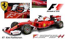 Ferrari SF16-H #7 Kimi Räikkönen 2016 Maßstab 1:18 von Bburago
