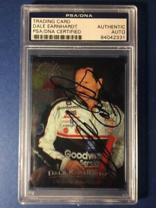 1996 Upper Deck DALE EARNHARDT Autographed Signed Road To The Cup Foil PSA