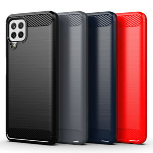 Protective Carbon Case Fiber Anti-Shock Phone Cover For Samsung Galaxy A22 4G