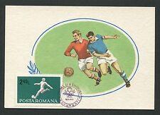ROMANIA MK 1969 SPORT FUßBALL SOCCER MAXIMUMKARTE CARTE MAXIMUM CARD MC CM d1184