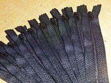 "Clearance Job Lot 50 x Black 6"" / 15cm Closed End Dress / Craft Zips ( BK6/50 )"
