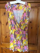 Next Yellow And Coloured Paisley Tunic Dress Size 14 Cost £35 Hardly Worn