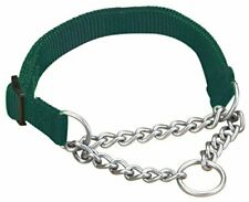 "Hamilton Adjustable Combo Choke Dog Collar, Dark Green, X-Small, 3/8"" x 10-14"""