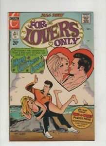 FOR LOVERS ONLY #73 F/VF, inappropriate risque spanking cover, Charlton 1973