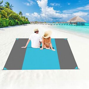 Beach Blanket Waterproof Sandproof Oversized 10' x 9' Sand Free Beach Mat Lightw