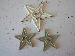 3 Cast Iron Building Stars Architectural Salvage Antique Look Rusty And Crusty