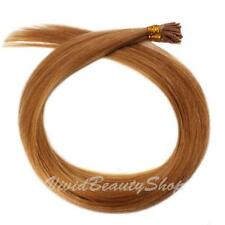 100 Pre Bond Stick I Tip Straight Remy Human Hair Extensions Strawberry Blonde