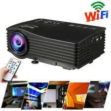 Portable Mini Wireless WIFI Projector LCD LED 3D Home Theater Cinime HDMI USB SD