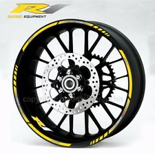 Yamaha YZF-R1 motorcycle wheel decals stickers rim stripes Laminated yzf r1 yel