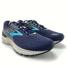 Brooks Women's Adrenaline GTS 19 Navy Aqua Tan Running Shoes Size 12 B