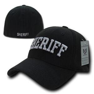 Sheriff Law Enforcement Flex Fit Baseball Hat Cap