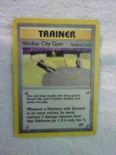 Carte pokémon trainer viridian city gym 123/132 peu commune carte anglaise usée