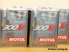 13,95 €/L MOTUL 300v Competition SAE 15w - 50 4 x 2 L. RACING OIL