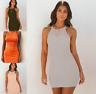 Womens Plain Ladies UK Baggy Short Loose basic Holiday Tops Party Mini Dresses