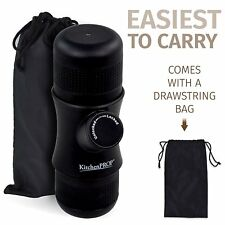 Mini Portable Espresso Coffee Maker with Carrying Bag - Handheld for Camping and