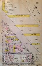 1912 BROMLEY EAST VILLAGE CONSOLIDATED GAS CO. MANHATTAN NY ATLAS PLAT MAP