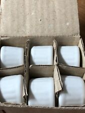 Set of  6 NEW  NIB White Ceramic Embossed Oval Napkin Rings Holders