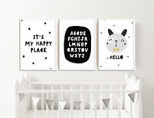 Scandinavian Style Nursery Prints / Pictures / Animals, Quotes for Boys or Girls