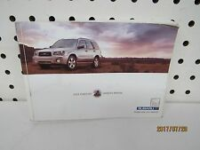 2003 Subaru Forester Owners Manual (book only) OEM   FREE SHIPPING