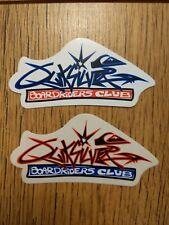 Quicksilver Boardriders Club Skateboarding Surfing Sticker 2 Designs Red & Blue
