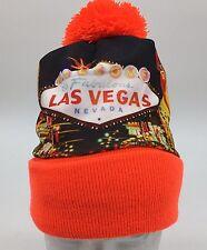 Las Vegas Skyline Photo Print Winter Pom Knit Hat Cap