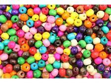 MIX ca.300 Stück Holzperlen bunte Perlen Holz 8x6mm #8150
