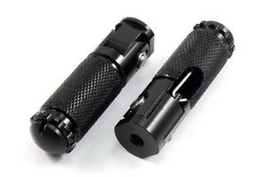 Black Motorcycle Rider Foot Peg Kit Footrest 8mm Screw For Honda Yamaha Kawasaki