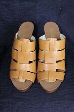 Michael Kors Somerly Mule Platform/high Heel Sz 7 Open Toe Shoe