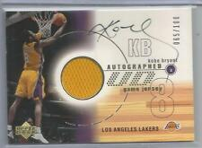2002 Upper Deck Basketball Kobe Bryant Autograph Game Jersey Card # 65/100