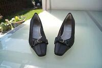 Rene by Ara Damen Schuhe Pumps High Heels schwarz Leder Gr.4 / 37 wie Neu