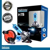 2er Set H15 Halogen 15/55W Xenon Style Lampen Xenon Look Lampen Weiß Seitronic®