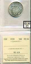 1939 Canada 50 Cent ICCS MS-64