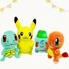 Pokemon Plush Toys 6''15cm4pcs/set Pokemon Pikachu Bulbasaur Squirtle Charmander