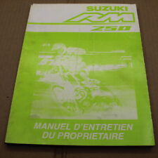 MANUEL REVUE TECHNIQUE D ATELIER SUZUKI RM 250 2004 K4 ->250rm LIVRE EN FRANCAIS