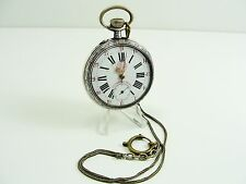 Sistemi XXL ROSKOPF OROLOGIO DA TASCA LEPINE 800 ARGENTO Messaggero Chronometro 61mm
