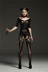 Body Stocking Open Crotch Fishnet Fetish Bodysuit Black Sexy Lingerie Plus Size
